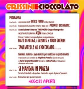 grissini e cioccolato