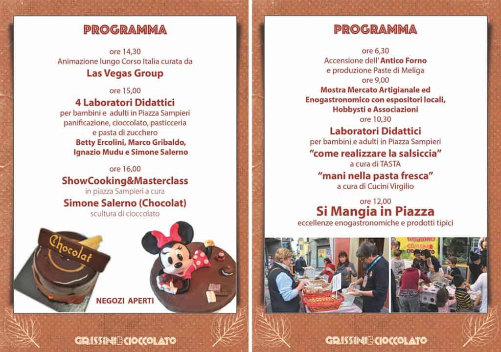 programma Grissini e Cioccolato 2019