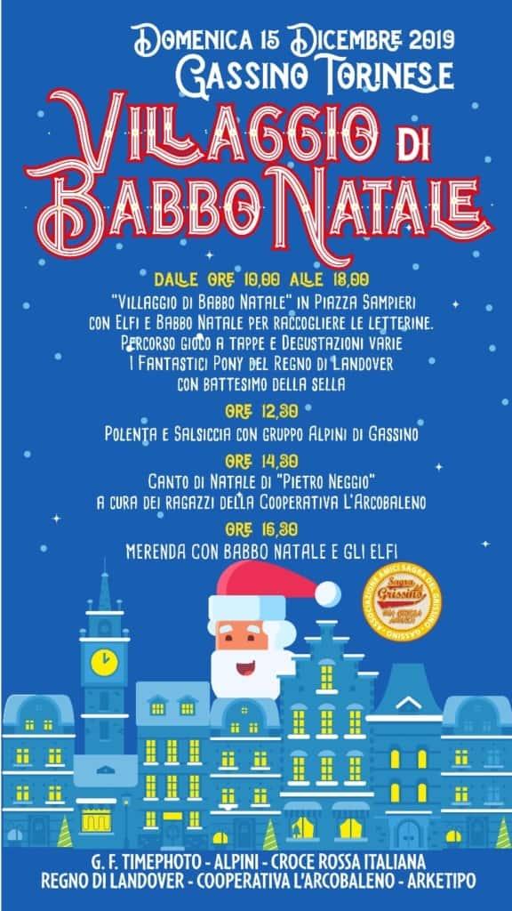 locandina villaggio di Babbo Natale